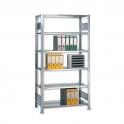 Büroregal -GR- Stecksystem verzinkt 2000x1000x600 mm