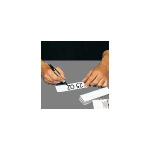 Magnetschilder 20 x 80 mm - weiß