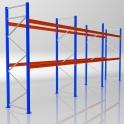 Palettenregal Grundmodul HxB 4000 x 8440 mm - 3 LE - bis 650 kg