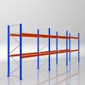 Palettenregal Grundmodul HxB 3000 x 8440 mm - 3 LE - bis 650 kg