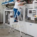 Aluminium-Stehleiter Arbeitshöhe 3,35 m einseitig begehbar