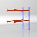 Palettenregal Anbauregal HxB 2500 x 2786 mm - 3 LE - bis 530 kg