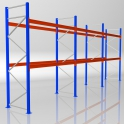 Palettenregal Grundmodul HxB 4000 x 8440 mm - 3 LE - bis 610 kg