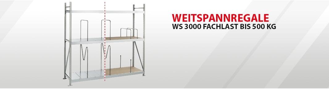 WS 3000 Fachlast bis 500 kg